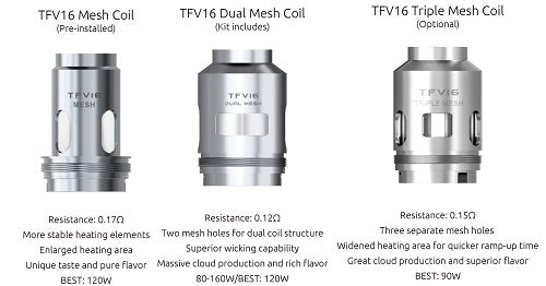 SMOK TFV-16 Replacement Coils - Pack of 3 Vape Pen Sales