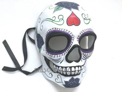Dia de los Muertos Sugar Skull full face Mens Skeleton Masquerade Mask