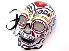 Mens Masquerade Mask Day of the Dead Dia de los Muertos Sugar Skull full face
