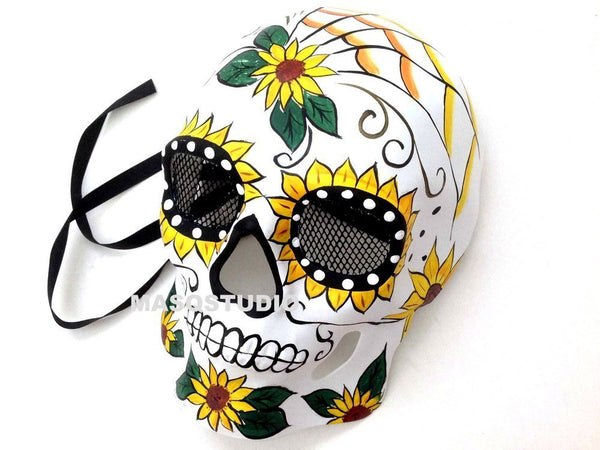 Day of the Dead Dia de los Muertos Sugar Skull full face Men's Masquerade Mask