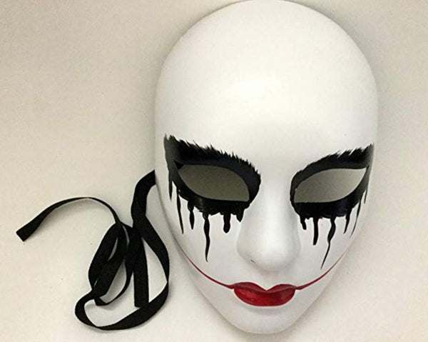 The purge women girls mask bloody red lips Anarchy movie mask Halloween Costume