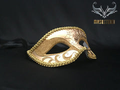Men's Gold Masquerade eye mask