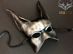 Vintage paper mache Halloween animal men's masquerade Black Jack Masquerade Mask
