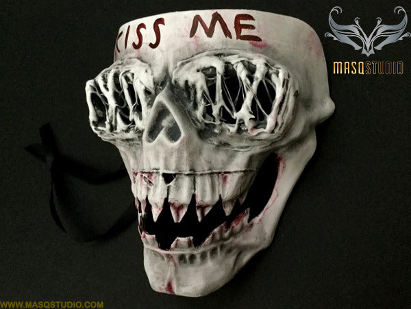 The purge Kiss ME mask Anarchy movie mask horror Halloween Costume Party