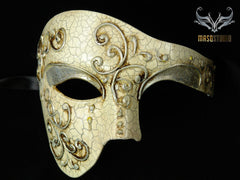 Men's phantom of the opera masquerade crack Silver mask