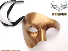 Men's phantom of the opera Gold masquerade ball mask