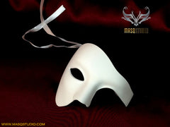 Phantom of the opera masquerade blank White Phantom mask