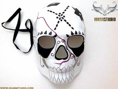 Men's Day of the Dead El Dia de los Muertos Sugar Skull full face Men's Skeleton Mask