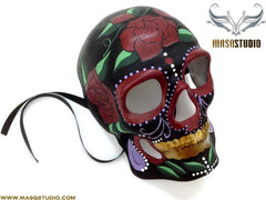 Mens Day of the Dead El Dia de los Muertos Sugar Skull full face Skeleton Mask