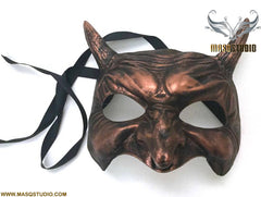 Animal Copper Masquerade ball mask Demon Mask Wear or Wall Deco