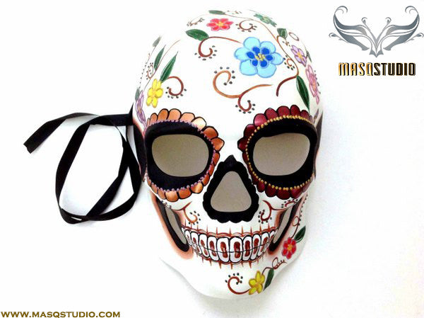 Men's Day of the Dead El Dia de los Muertos Sugar Skull full face Men's Mask J