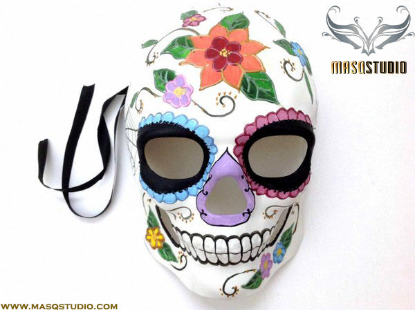 Men's Day of the Dead El Dia de los Muertos Sugar Skull full face Mens Mask B