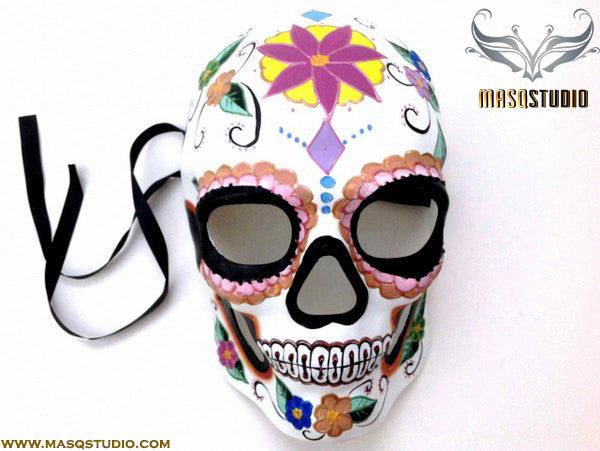Men's Day of the Dead El Dia de los Muertos Sugar Skull full face Mens Mask D