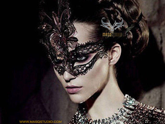 Filigree metal Black Vampire Diaries Mask