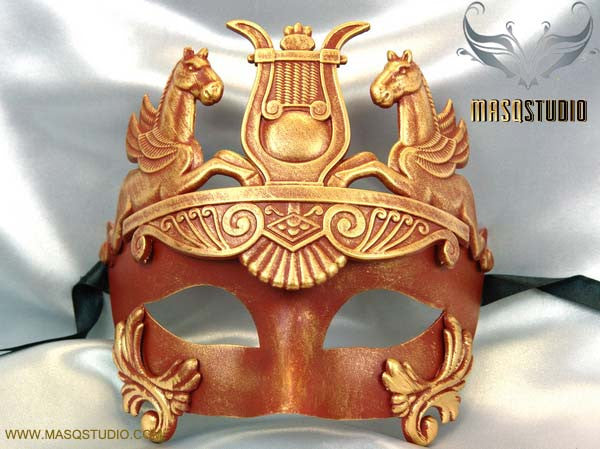 Men's Masquerade Mask Roman Gladiator Thor Red Masquerade Ball Mask