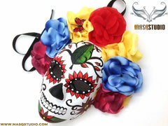 Day of the Dead El Dia de los Muertos Females Full face flower mask