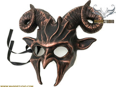 Masquerade ball mask Bronze Brass Copper Ram Goat Mask Wear or Wall Deco