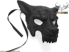 Mens masquerade ball mask Black WOLF Mask Haunted house party Wall Deco
