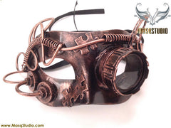 Steampunk Goggle Masquerade Ball Mask Rose Gold