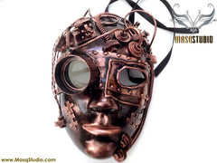 Steampunk Goggle Womens Masquerade Mask Metallic Rose Gold