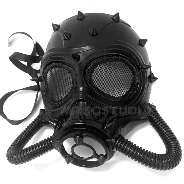 Halloween Costume Cosplay Steampunk Dress up Party Black Masquerade Gas Mask