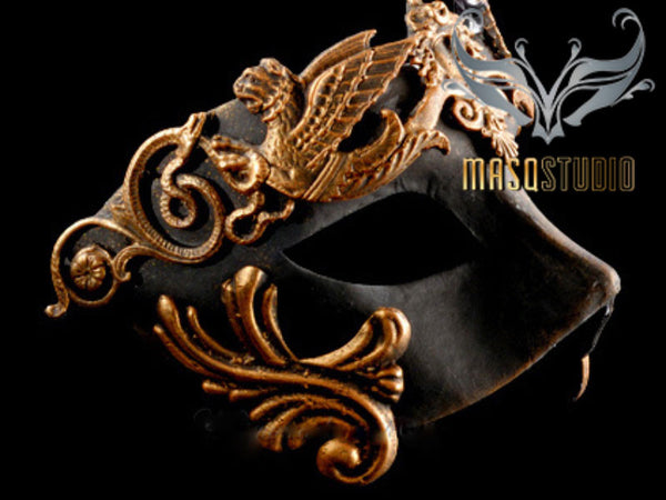 Men's Masquerade Mask Roman Gladiator Thor - Antique Copper