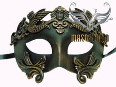 Men's Masquerade Mask Roman Gladiator Thor - Antique Gold