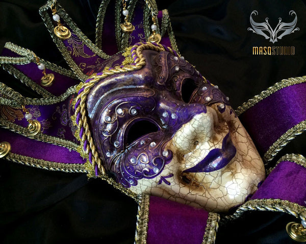 Jolly Jester Full Face Mask - Purple