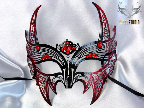 Red Devil Mask Black Red