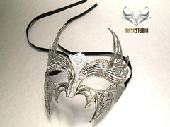 Red Devil Mask Silver