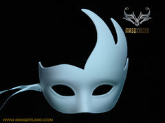 Blank White Masquerade mask Woman