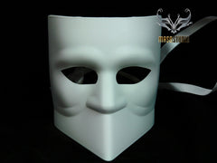 Men's White Bauta Mask