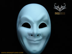 Blank White Full Face Masquerade Mask Man