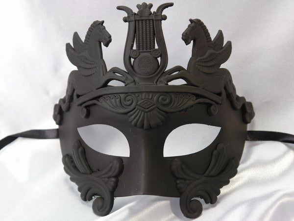 Men's Masquerade Mask Roman Gladiator Thor - Black Copper Masquerade Ball Mask