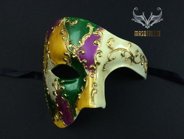 Men's phantom of the opera masquerade mardi gras mask
