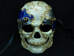 Men's full face Halloween sugar skull Black Blue Skull Mask