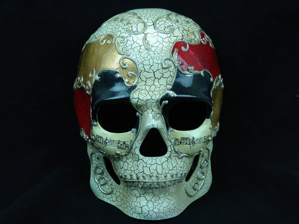 Men's full face Halloween sugar skull Black Red Skull Mask