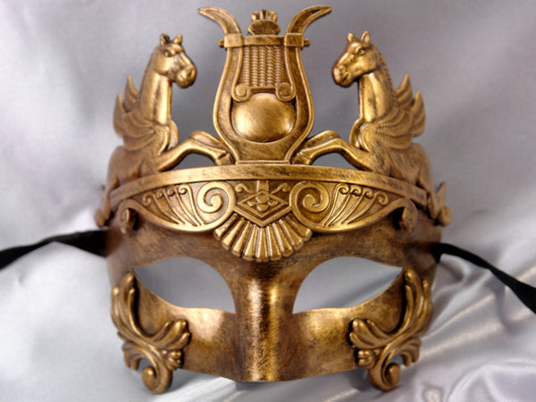 Men's Masquerade Mask for Men Roman Gold Silver Masquerade Ball Mask for Man