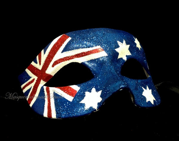 Men's Women's Australian flag Patriotic Masquerade Ball Mask Australia