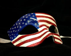 American July 4th flag Patriotic Masquerade Ball Mask USA