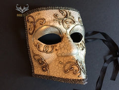 Venetian Bauta Masquerade Ball Black Eye Mask