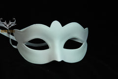 Undecorated unfinished blank plain White masquerade eye mask