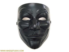 Black V for Vendetta Mask Mens Guys Fawkes Anonymous V Mask