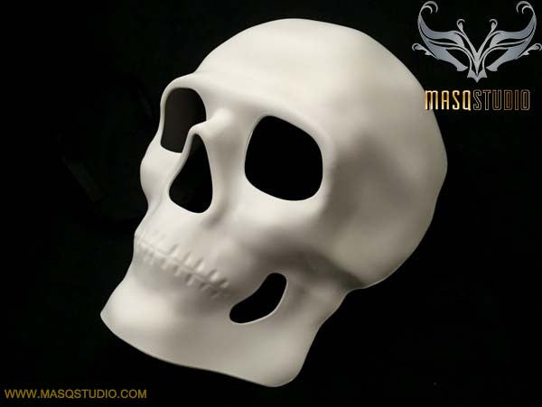 Blank White Full Face Halloween Skeleton Day of the Dead Masquerade Skull Mask