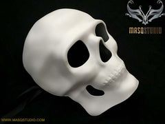 Reserved for Kathryn Reimer - Blank White Full Face Skeleton Mask