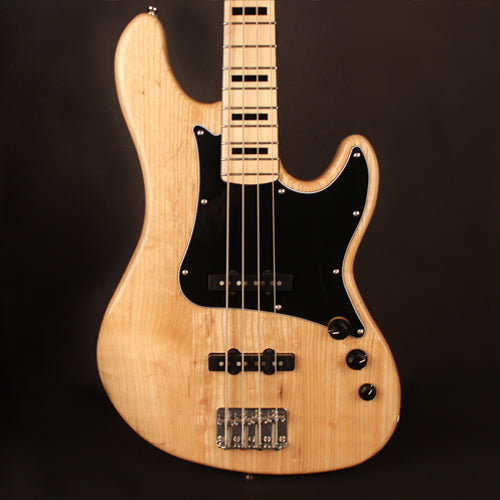 Cort GB Series GB54JJ 4-String Electric Bass Guitar, Natural