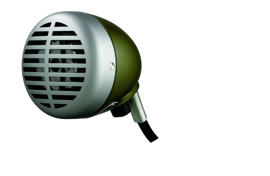 "Shure 520DX Omnidirectional Dynamic with Volume Control High Z ""The Green Bullet"" for Harmonica"