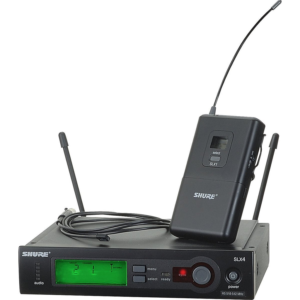 Shure SLX14/93 Wireless Lavalier Clip-On Mic System with WL93 Omni-Directional Mic in G4 Band (470-494 MHz)