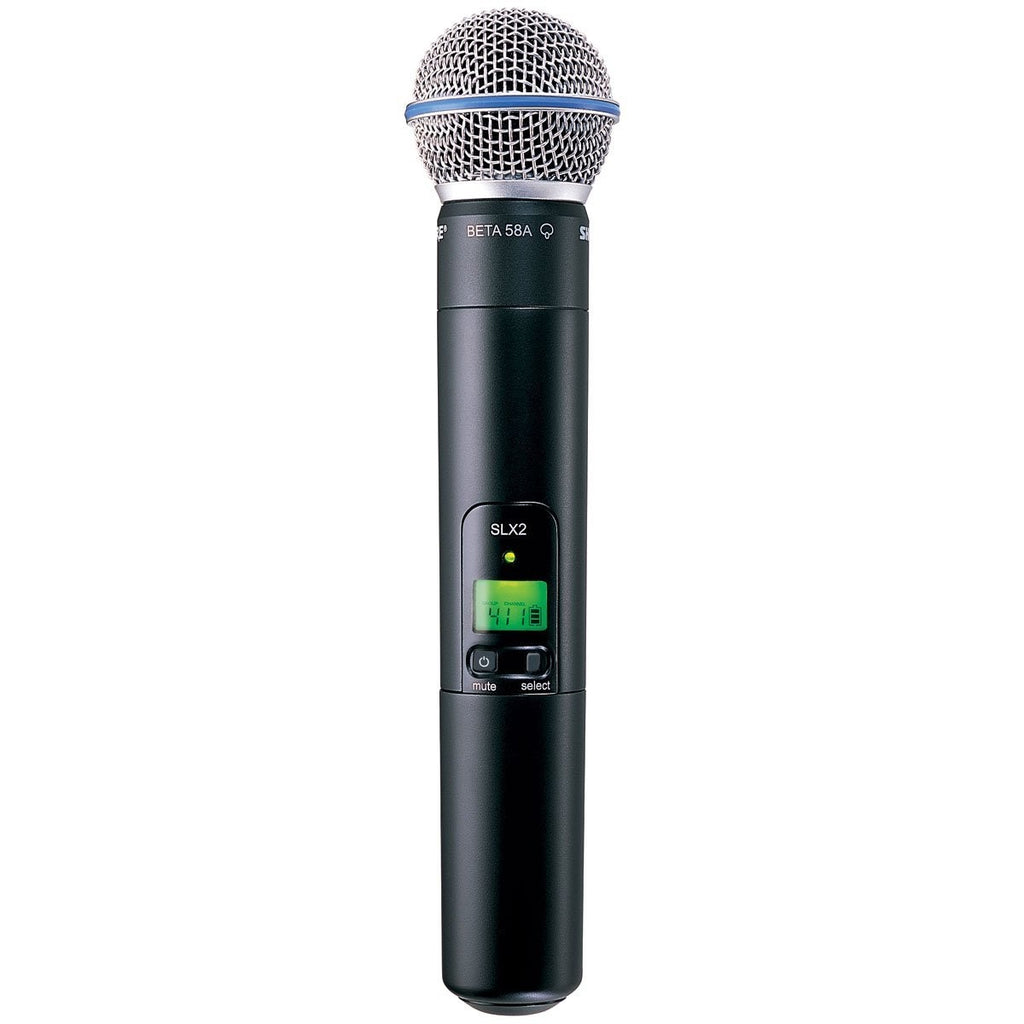 Shure SLX2/BETA58 Handheld Transmitter with BETA 58A Microphone, H5