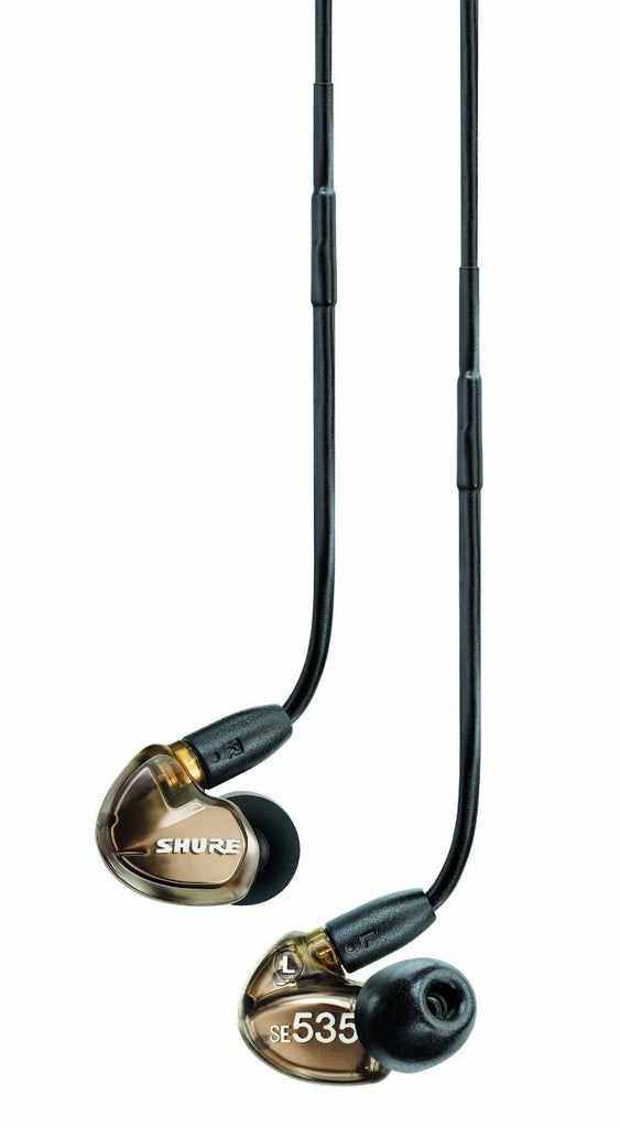 Shure SE535-V Sound Isolating Triple Driver Earphones with Detachable Cable (Metallic Bronze)